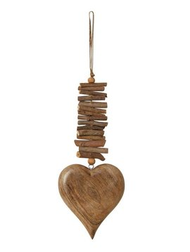 Mango Wood Heart with Twigs