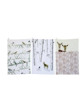 Holiday Animal Cotton Tea Towels
