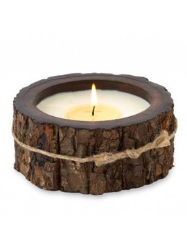 Tree Bark Pot Candle - 1 Wick