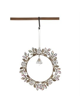 Metal & Acrylic Jewel Wreath Ornament