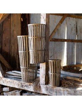 Tall Wooden Cellar Basket