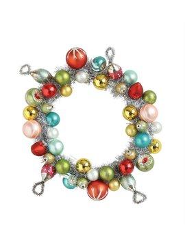Round Glass Wreath Ornament