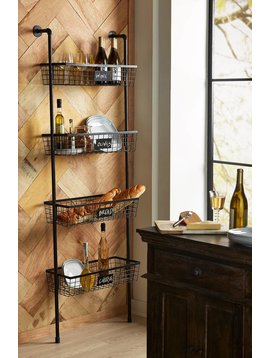 Truman 4 Basket Wall Shelf