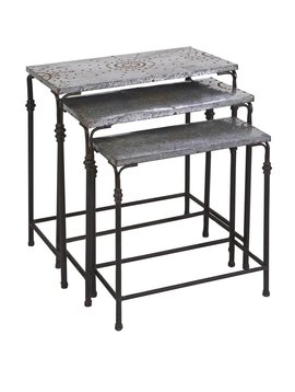 Gilbert Galvanized Nesting Tables