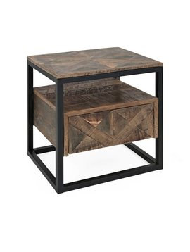 Loxias Reclaimed Wood Accent Table