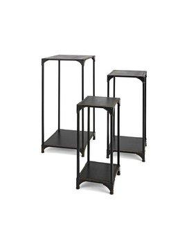 Jasper Wood and Metal Tables