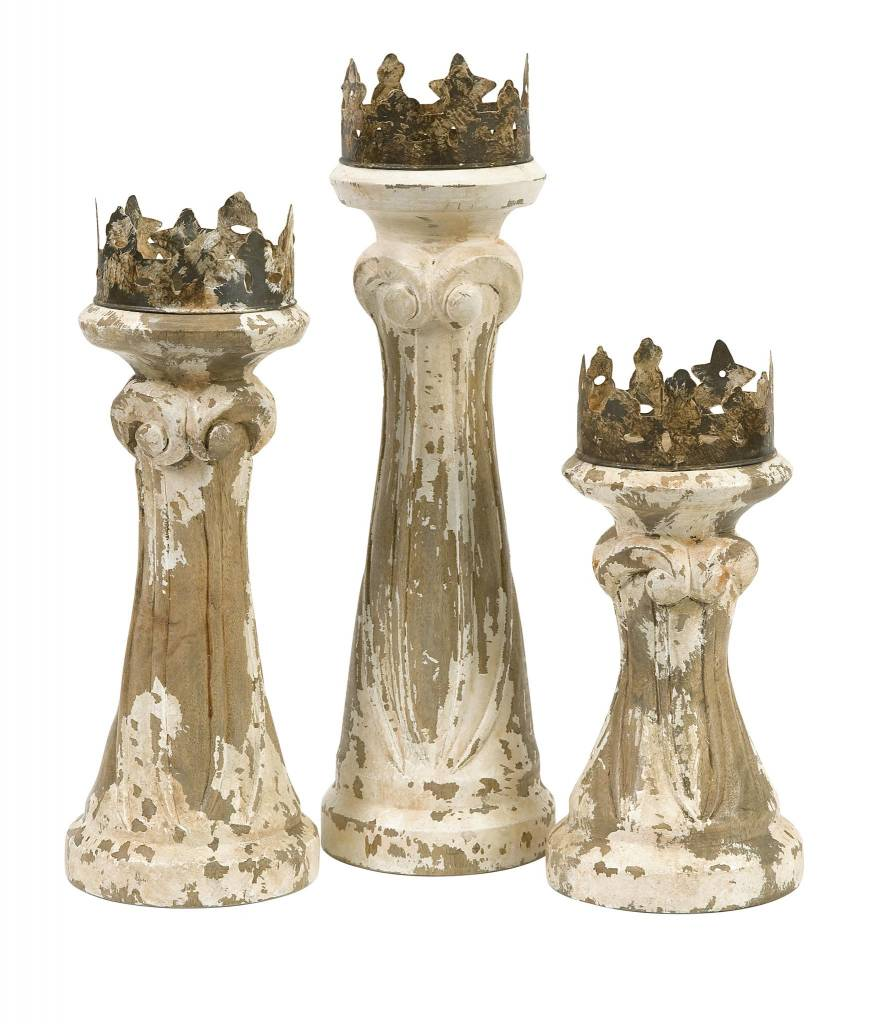 Feliciano Hand Carved Candleholders