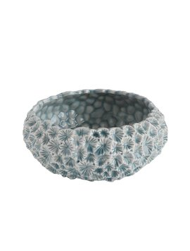 Textured Ceramic Planter Light Blue