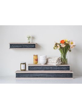 Wood Wall Shelf w/ Chalkboard Face