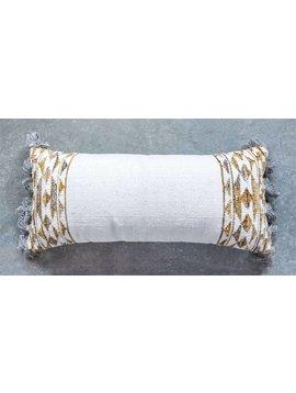 Hand Woven Wool Kilim Pillow w/ Tassels