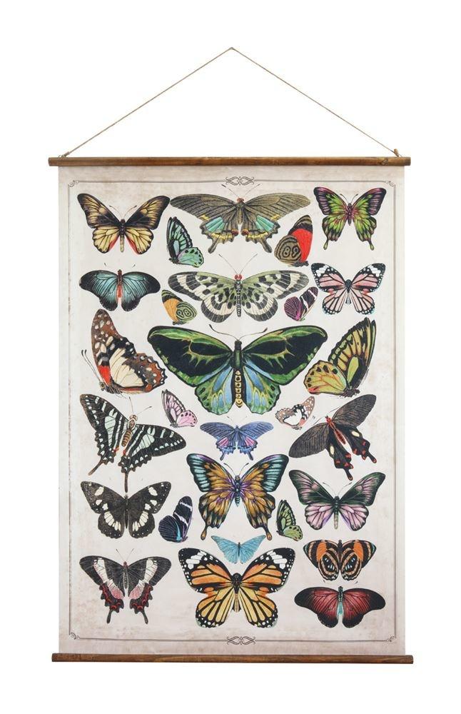 Butterfly Wood Scroll Wall Decor