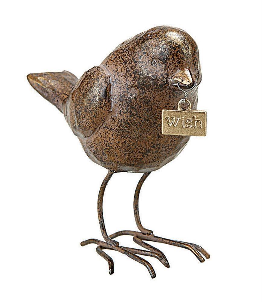 """Resin Bird W/ """"Wish"""" Tag"""