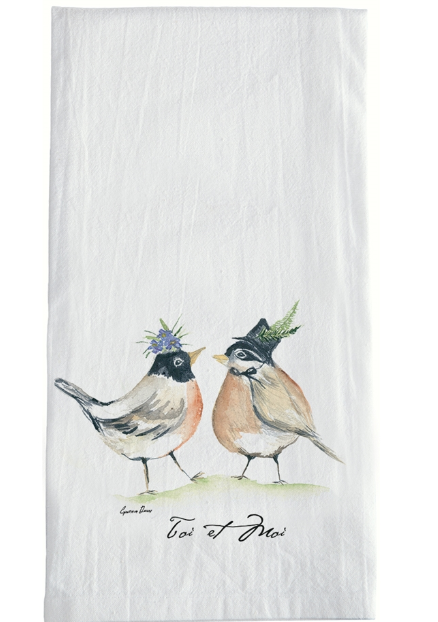 Birds in Hats Towel