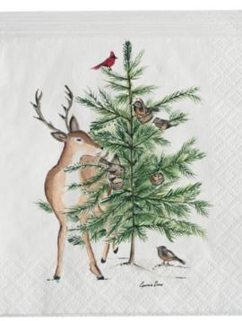 Deer/Tree Cocktail Napkin