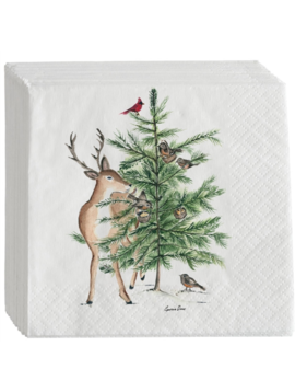 Deer/Tree Cocktail Napkin