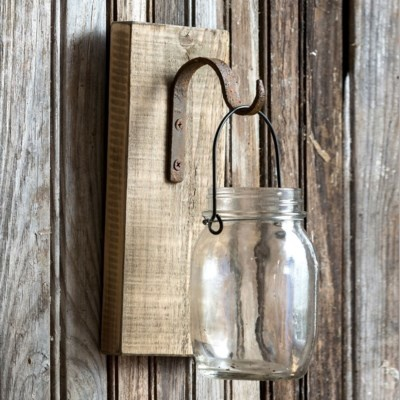 Hanging Canning Jar on Wood