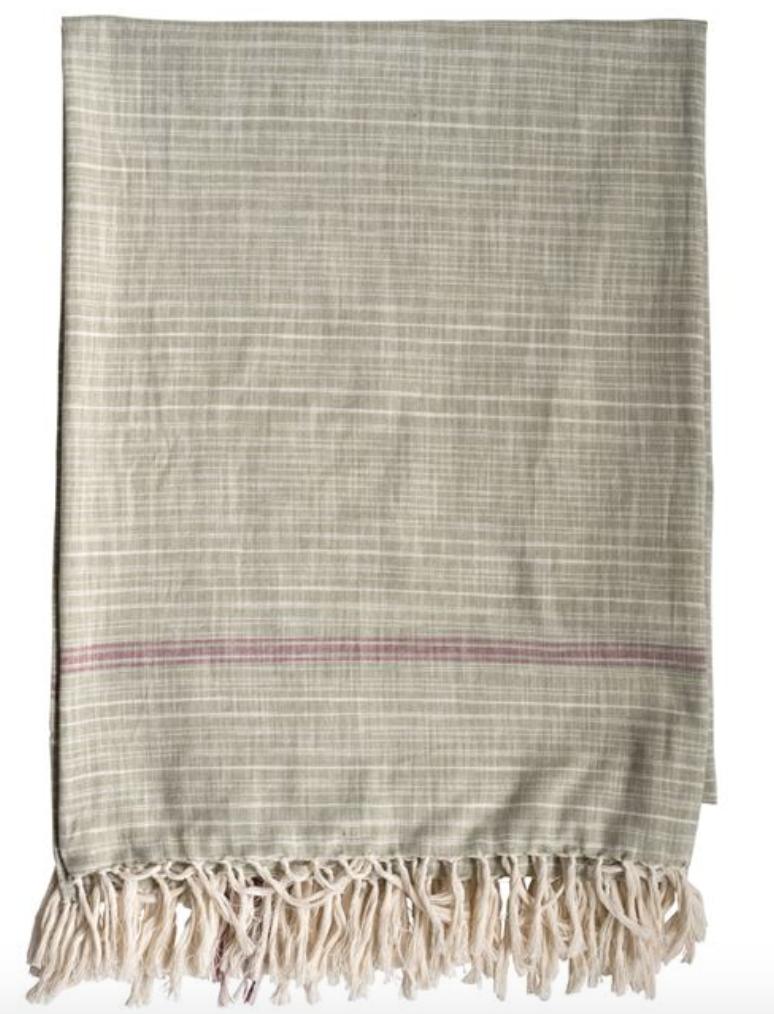 Cotton Woven Tablecloth, Green