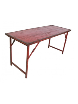Iron Frame Wedding Table - Red