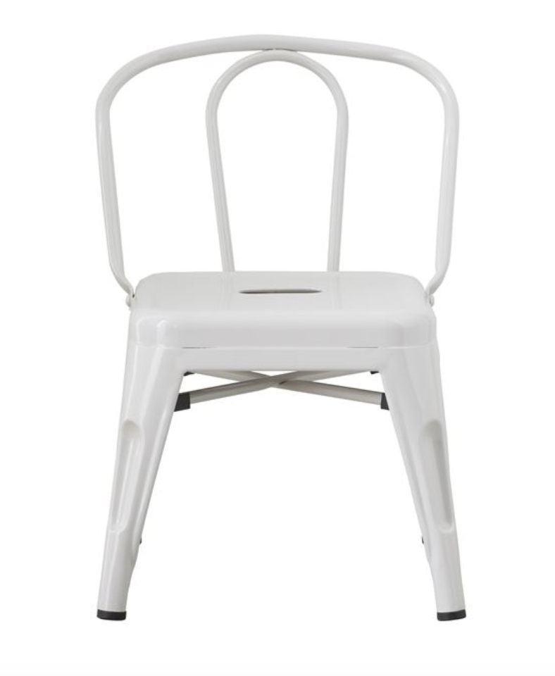 Children's Grey Metal Chair