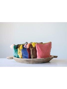 Cotton Velvet Pouch Corduroy