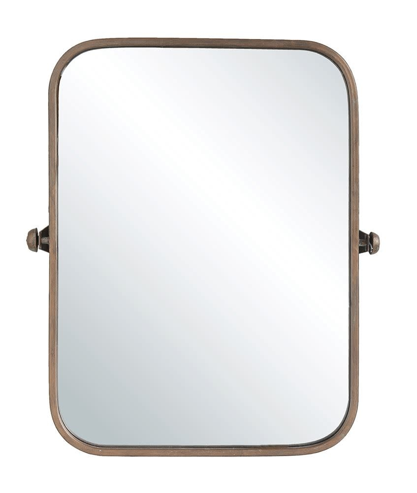 Metal Framed Wall Mirror, Copper Finish