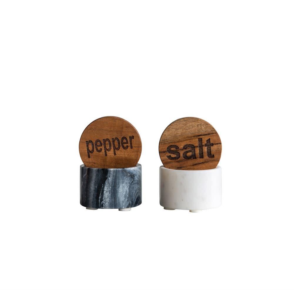 Round Marble Salt & Pepper