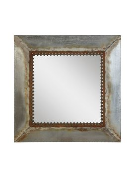 Square Metal Framed Mirror
