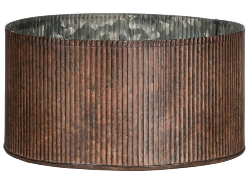 Ribbed Metal Pot