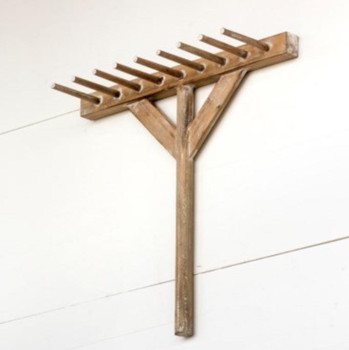 Wooden Rake Hanger