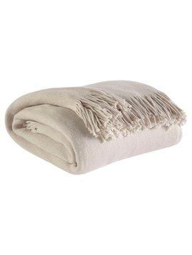 Ashley Home Furniture Haiden Throw (Ivory & Tope)