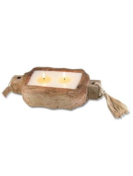 Driftwood Candle Tray - 2 Wick