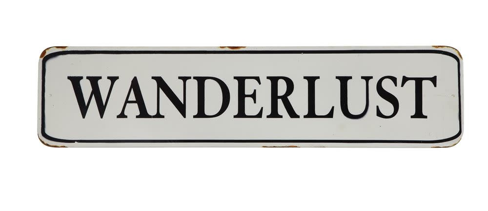 """Wanderlust"" Tin Sign"