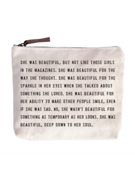 Sugarboo & Co. She Was Beautiful Canvas Bag