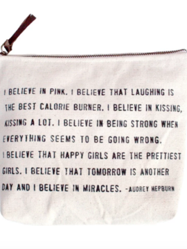 Sugarboo & Co. I Believe In Pink Canvas Bag