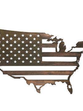 United States W/ Flag Inside - Large 36x23