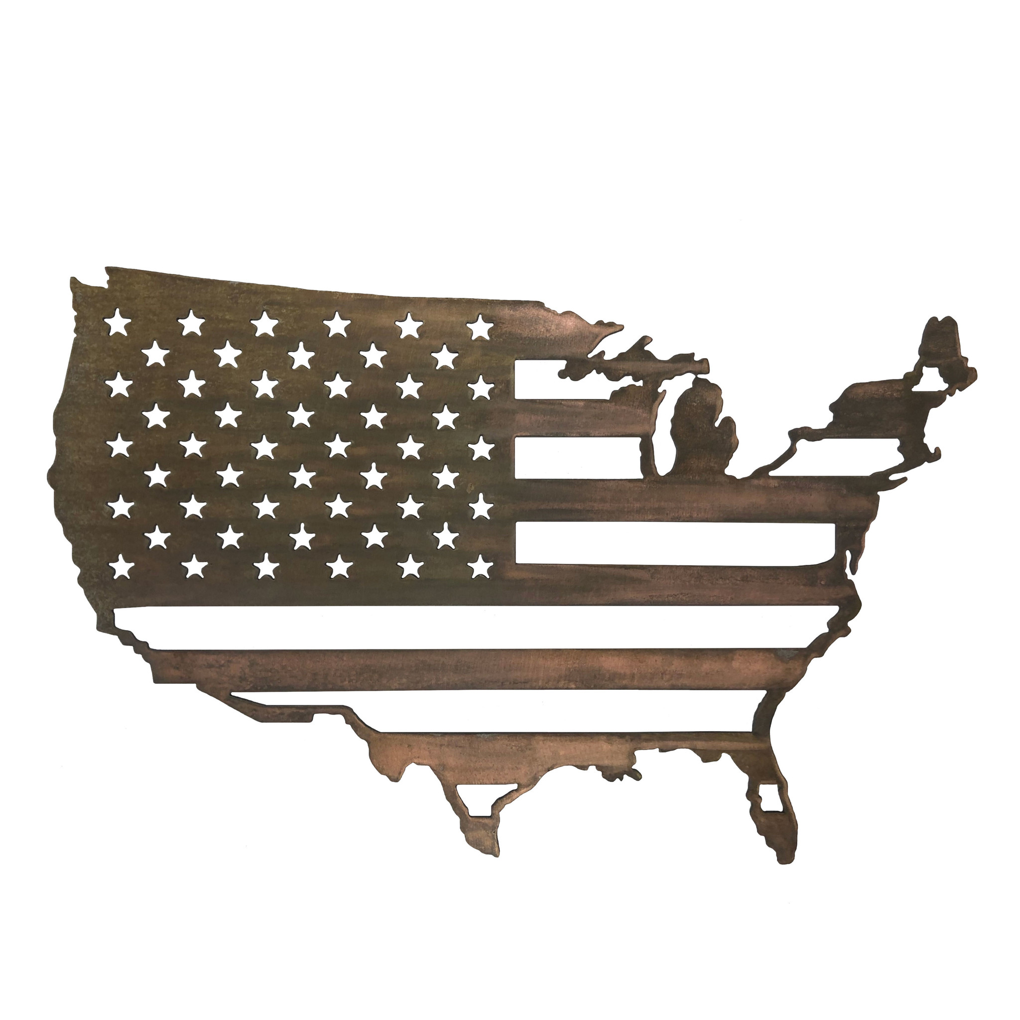 United States w/ Flag Inside - Small 24 x 15