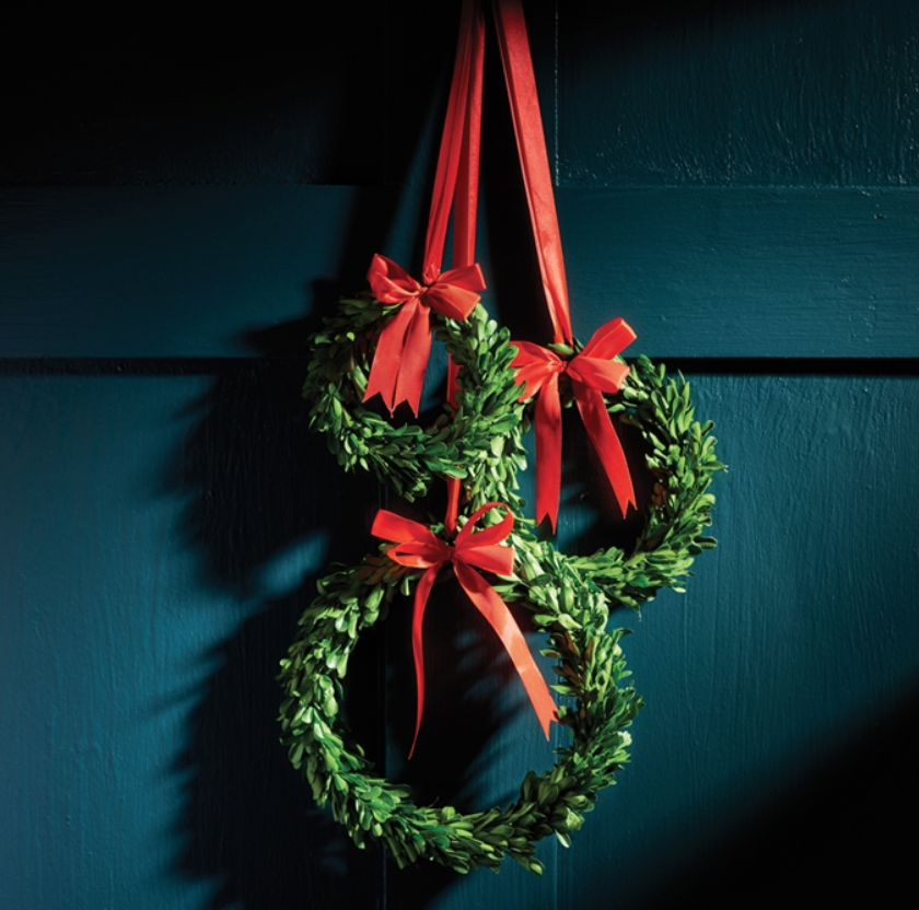 Boxwood Wreath W/ Red Ribbon