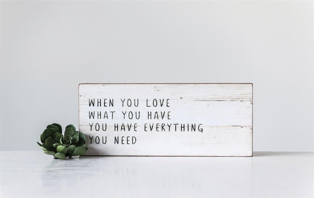 """When You Love"" Wall Decor"
