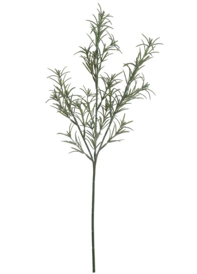 "19""H Faux Rosemary Stem"