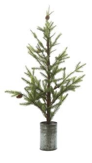 "31-3/4""H Artificial Pine Tree in Metal"