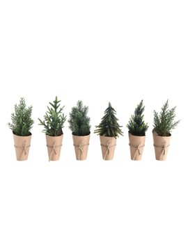"""10-1/4"""" Tree with Paper Wrapped Pot"""