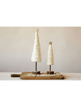 Wool Christmas Tree w/ Wood Base & Star