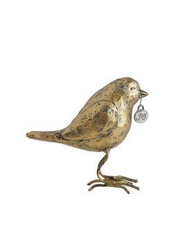 """3-1/2""""H Resin Bird w/ """"Joy"""" Tag"""