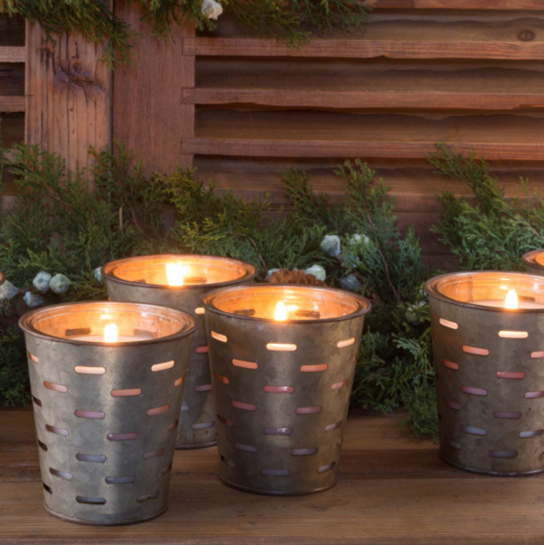 Home For the Holidays Olive Bucket Candle