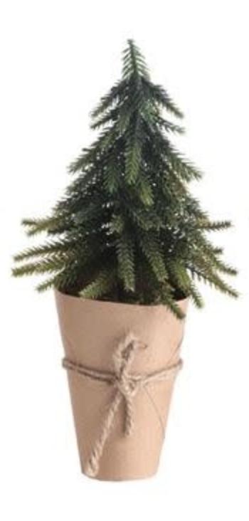 """10-1/4"""" Tree W/ Paper Wrapped Pot"""