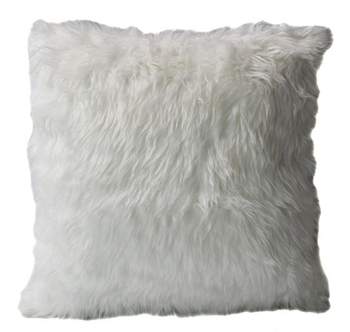 Rug Factory Plus White Fox Pillow