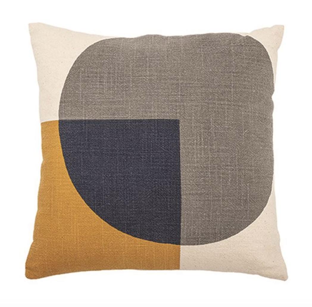 "Bloomingville 16"" Square Cotton Pillow Multi Color"