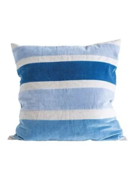 """Bloomingville 26"""" Square Cotton Chambray Pillow"""