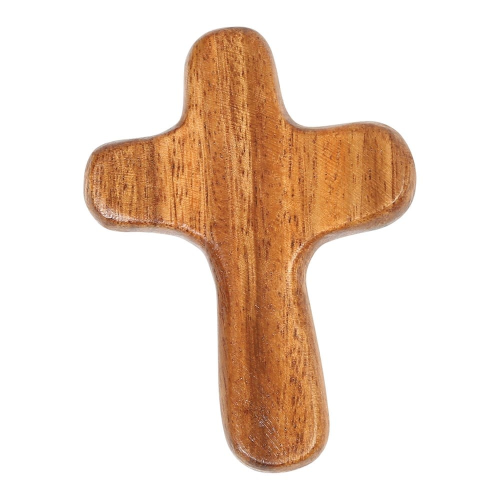 "2-3/4""W x 3-3/4""H Acacia Wood Cross"