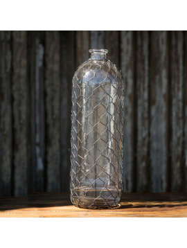"""Bottle with Poultry Wire, 16"""""""